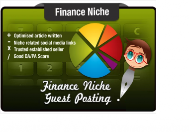 write a Guest Post on a SeoMoz DA29 PA40 Finance Niche Site with FREE Bonus