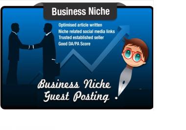 write and Guest Post a Business Niche SEO Optimised Article SeoMoz PA15 DA22