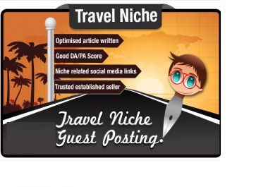 pump up your SEO with an optimized Guest Post in the Travel niche