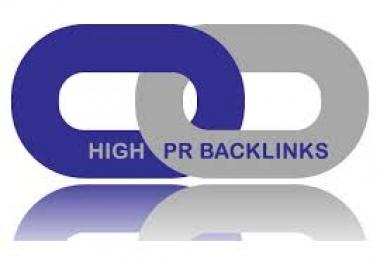 create 800 High PR backlinks to seo your website...