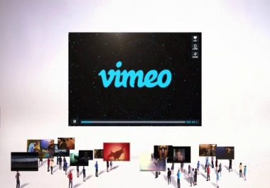 provide your 1,000 Vimeo Video Views Plays