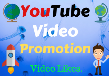 YouTube Video Promotion with Thumbs up High-quality
