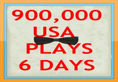 900,000 USA NON DROP CITY PLAY/S IN 6 DAYS ONLY!!!!