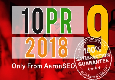 Give you 10+ dofollow permanent backlinks from PR9-8