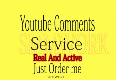 YouTube Custom 25 Comments In Your Video Only for $1