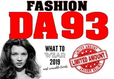 Backlink on DA93 Fashion Blog (Max 10 OBLs)