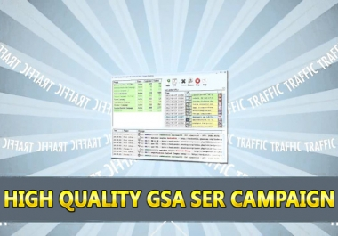 run High Quality Gsa SER seo campaign 2 Tiers for 3 days