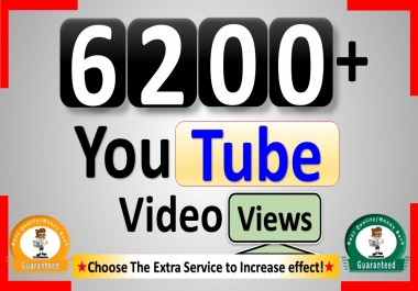Get 6500+ YouTube-Video Views, Real Active, Permanent & Good Retention