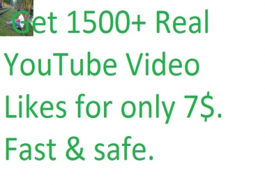 I will give you 300+ youtube video likes in your YouTube video only