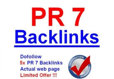 Manually create High Quality 1 PR7, 3 PR6, 5 PR5 Blog Comment Baclinks