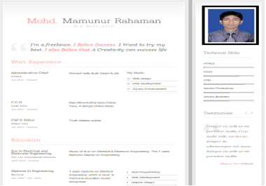 Create your own online CV