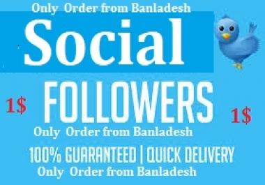 1000 Non drop Twi tter Followers