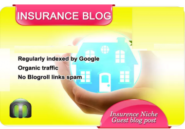 write and guest post on my INSURANCE blog