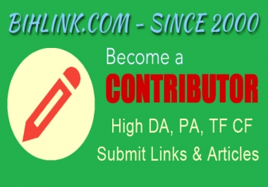 Contributor Account At HQ High DA PA TF CF Viral Blog Weekly Membership