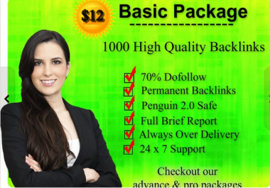 I will rank with SEO 1000 Authority Backlinks, 500 Bonus
