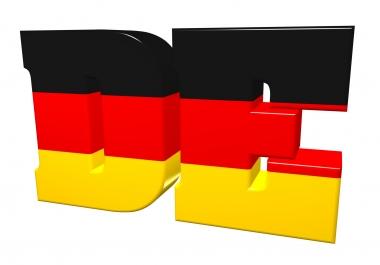 15000 German visitors traffic for 30 days