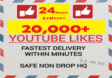 FASTEST 20k+ NON DROP HQ Youtube video Likes in minutes