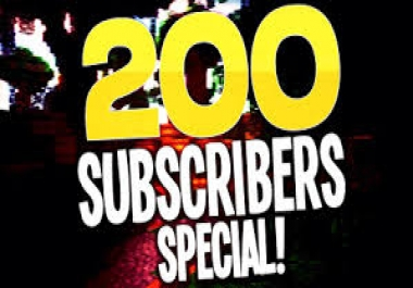 200 + real active subscribers on your YouTube channel