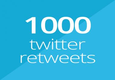 1000 Twitter retweets