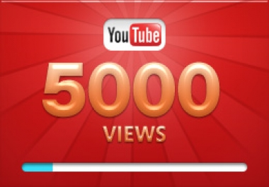 Add over 6000+ YOU-TUBE Views High quality