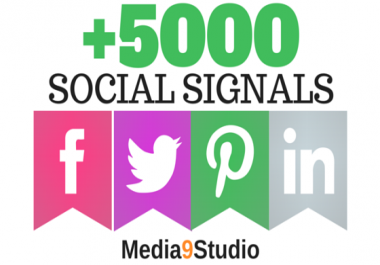 PR9 5000 Real SEO Social Signals Including Googleplus ones P interest Signals social Bookmark