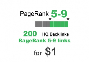 200 PR 5-9 backlinks