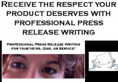 write a press release for your product or website