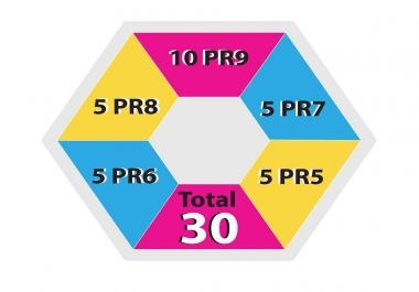 Get 30 DOFOLLOW Backlinks- 10 PR9+ 5 PR8+ 5 PR7+ 5PR6+ 5 PR5 domains