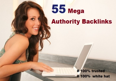 I will give you 55 Authority backlinks with some EDU Backlinks
