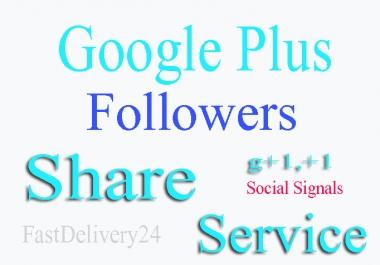 Give you 170+ Google Plus Circle Follows or 50+ Google Plus Post Sh are To Google Plus Post