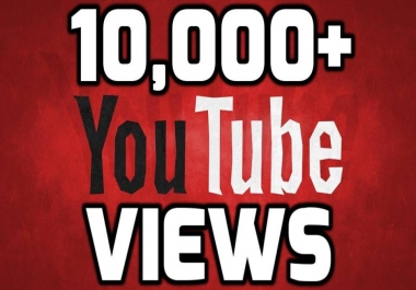 Provide 10,000-11000 Safe YouTube Views 24-36 hours