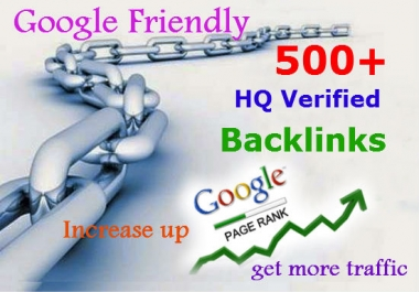 I will do 500 Verified Google & Yahoo Friendly SEO Backlinks for any URL