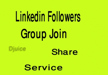 I will give you 500+ REAL Linkedin Followers or group join