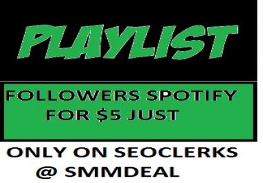 500 sp0tify Playlist Followers