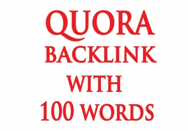 100 Words Quora Answer With Contextual BackLink
