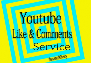 YouTube Custom 10 Comments+Likes in your yt video