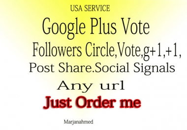 I Will Give U 110+ USA base Google Plus or Circle or Follow