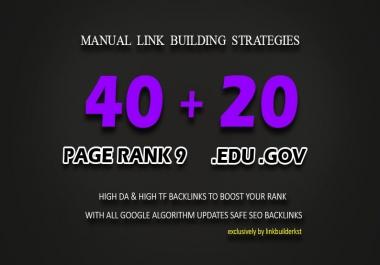 60 High Trust Authority Backlinks