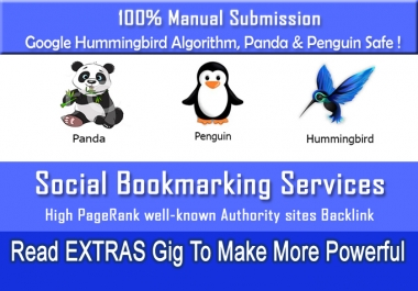 i will do Social bookmarking submission Manually to 100 sites PR2 to PR9