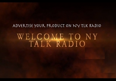 advertise your product on NY Talk Radio