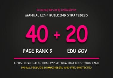 40 Pr9 + 20 Edu - Gov High Pr Safe Authority SEO Backlinks