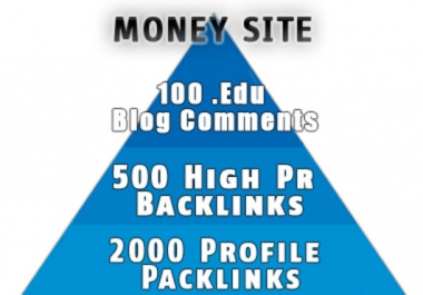 I will create the ultimate seo 3 layer pyramid edu backlinks high pr backlinks and profile backlinks