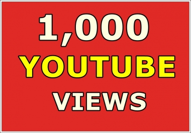 1,000 Safe Youtube views Real High Retention