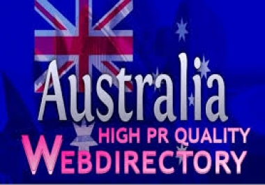 ***^^^ I will submit 40 Australia high pr web directory submission ***^^^
