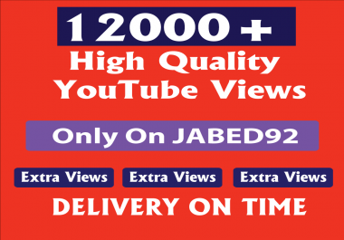 Safe & high retention 11000+ youtube v-i-e-ws Within 24-48 hours