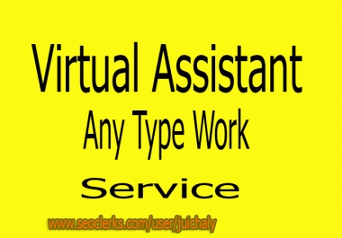 I can do as your Virtual Assistant, Any type work.