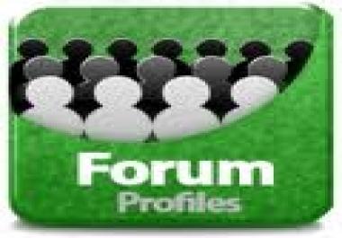 Create 2K High PR(1-7) Forum Profiles