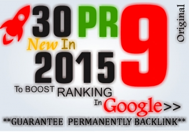 Manually do 30 PR9 Safe SEO High Pr Backlinks 2015 Best Results##