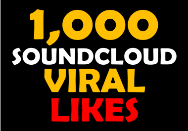 1000 Soundcloud likes splittable upto 10 links