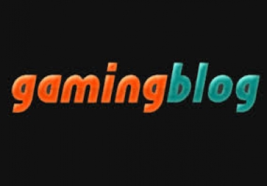 write and guest post on my gaming blog.